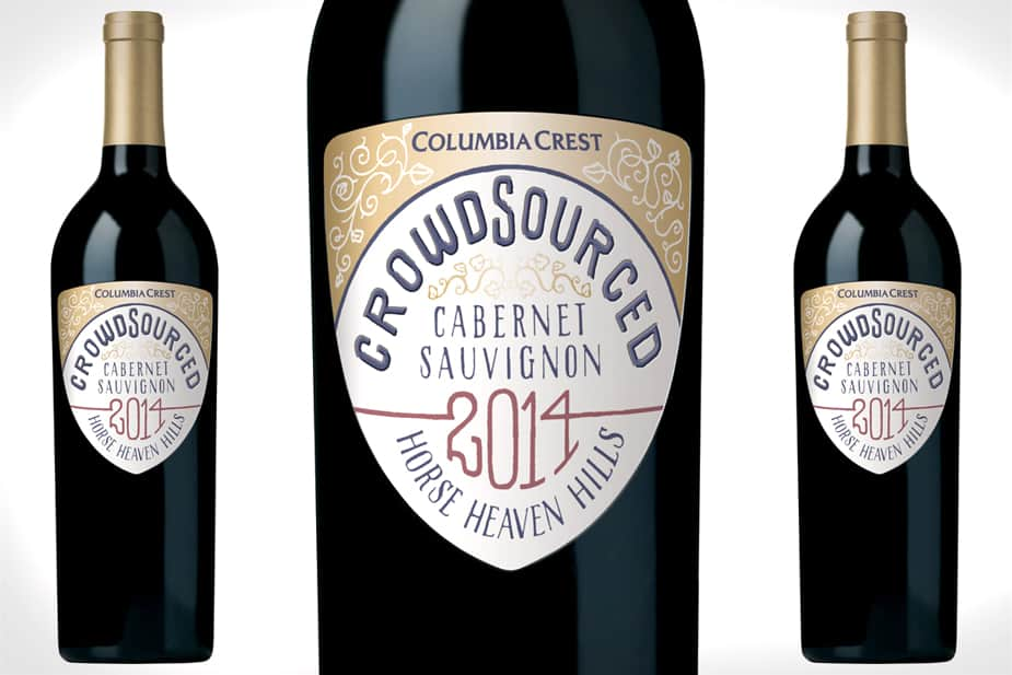 2014 crowdsourced cabernet bottle