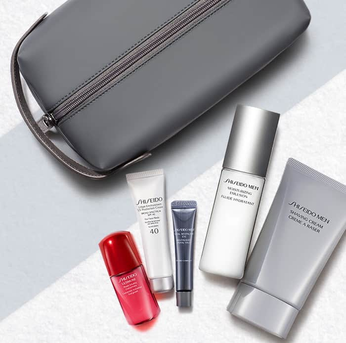 shiseido men's grooming set