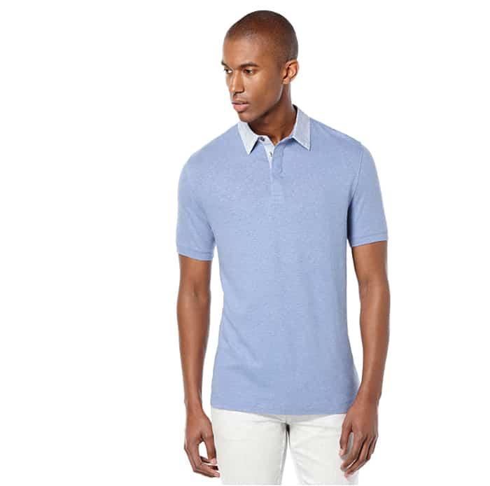 perry ellis linen polo shirt