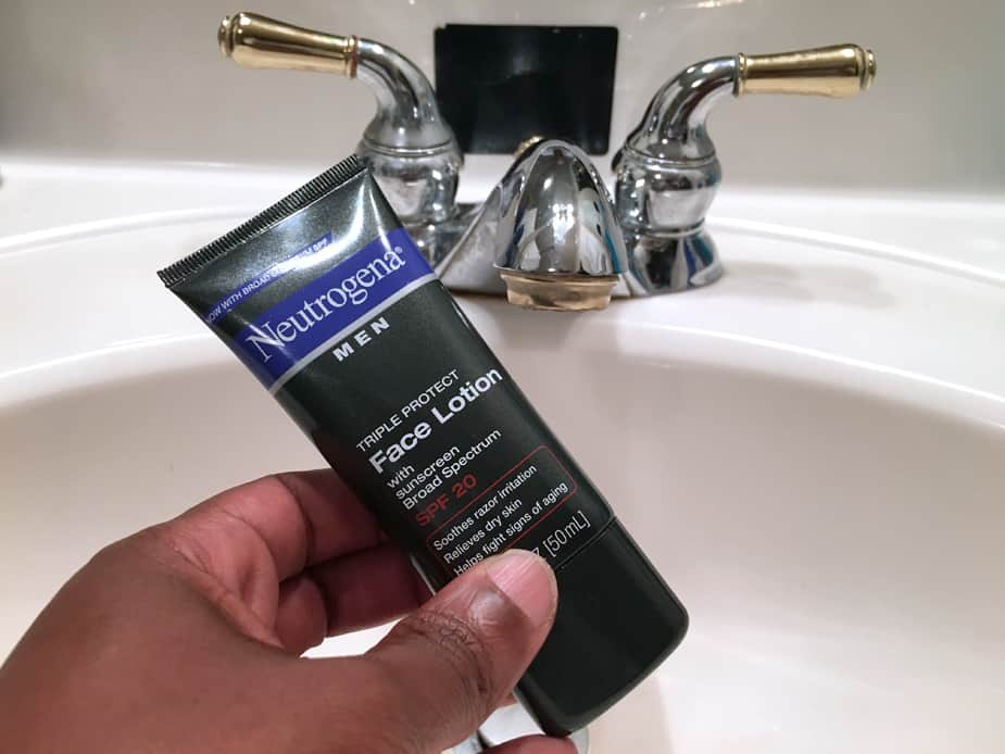 Moisturizing your face is an important part of a man's skin care routine.