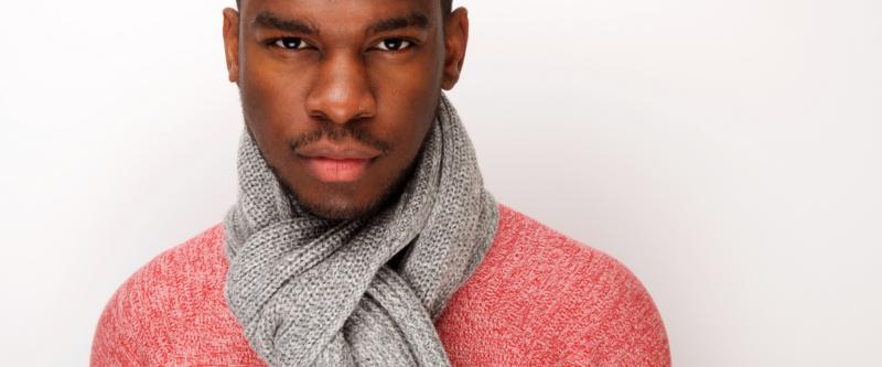 black man is scarf