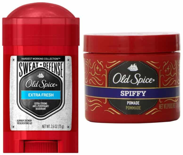 old spice sweat defense and old spice pomade