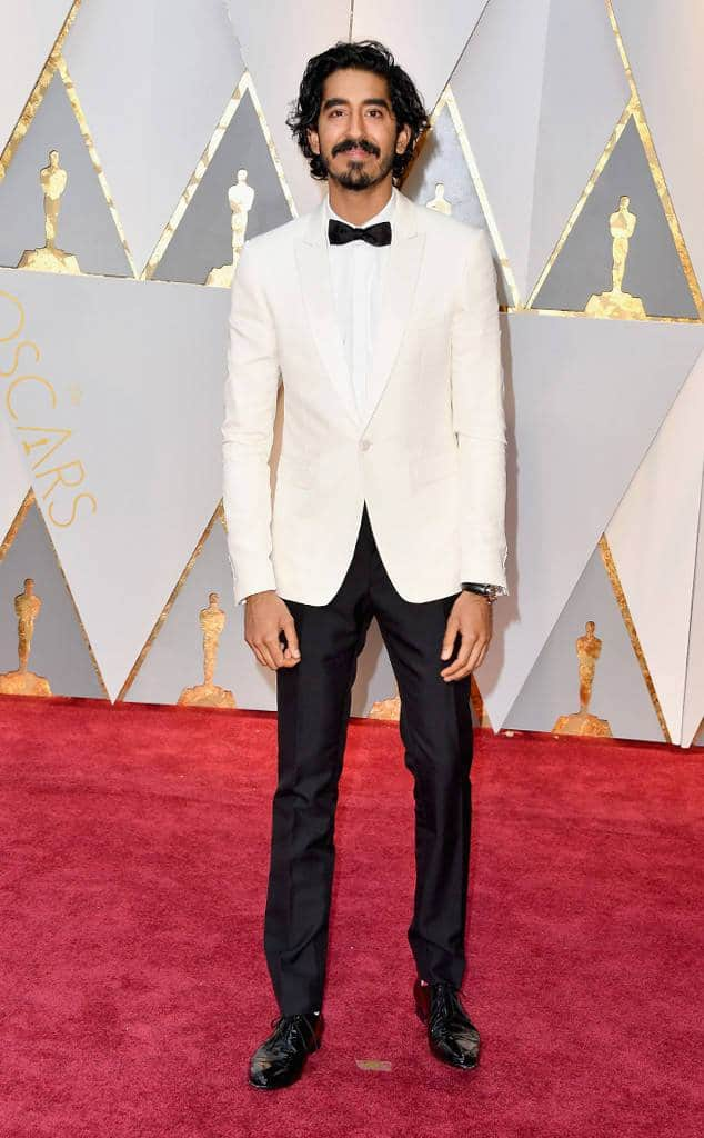 Dev Patel academy awards oscars red carpet fashion