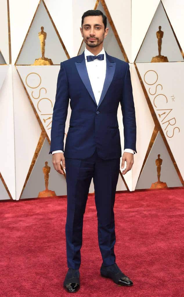 Riz Ahmed academy awards oscars red carpet fashion