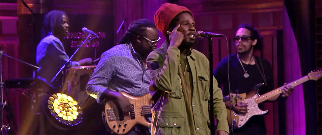 "Chronixx Returns to The Tonight Show to Perform ""Majesty"" and ""Likes"""
