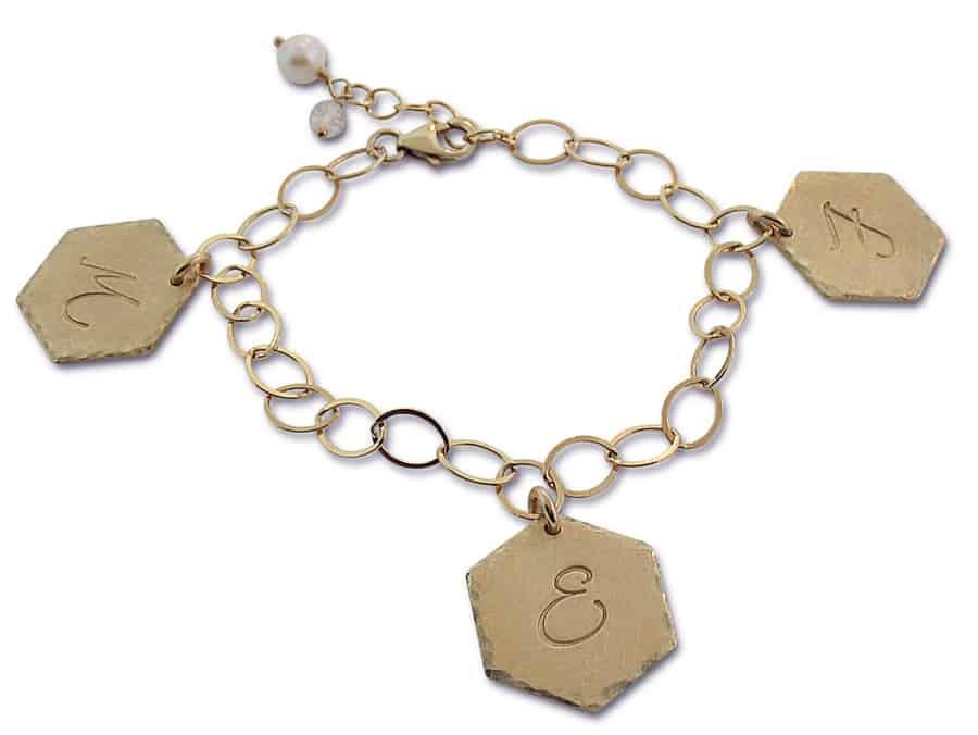 Isabelle Grace Jewelry Honeycomb Charm Bracelet