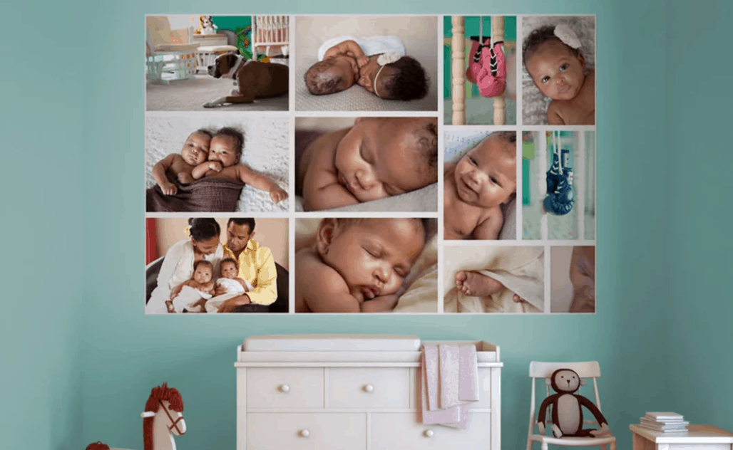 WeMontage Photo Collage removable wallpaper