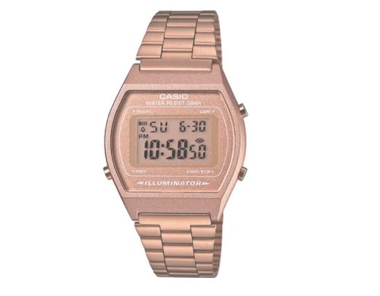 casio vintage watch rose gold