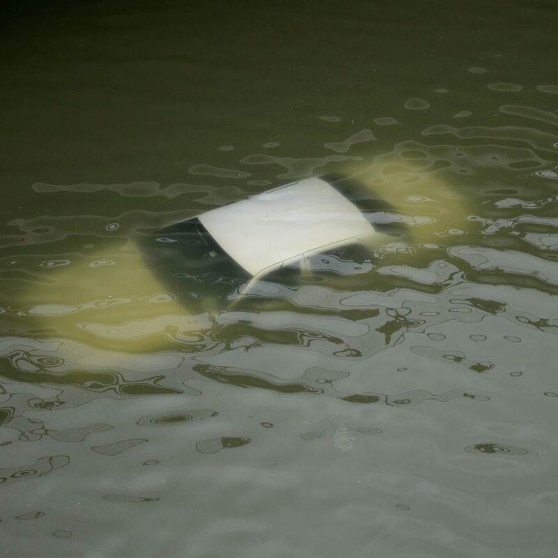 Hurricane Harvey Flooded Car