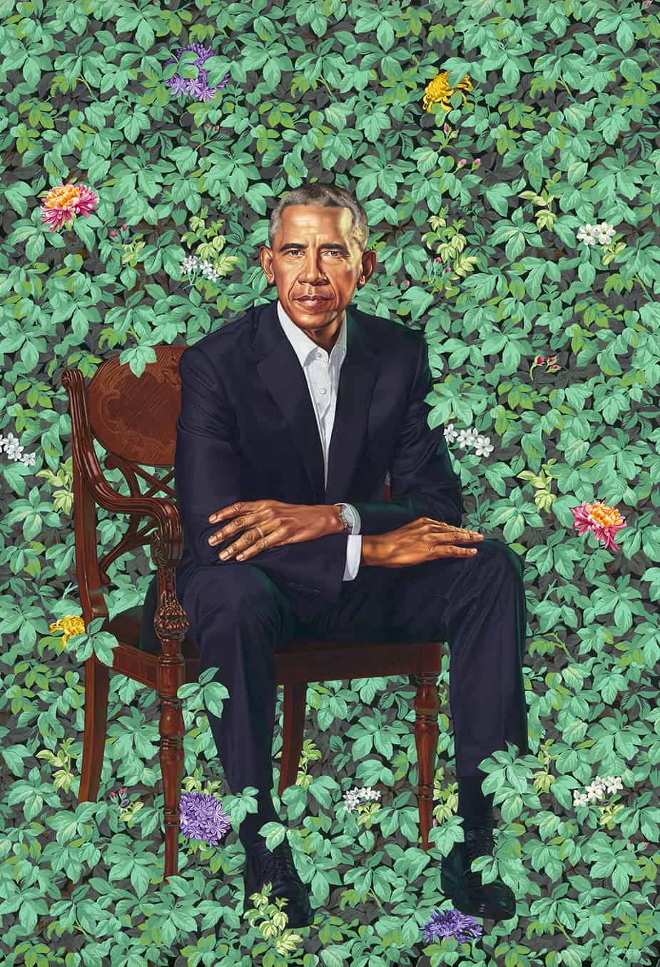 President Barack Obama Portrait by Kehinde Wiley