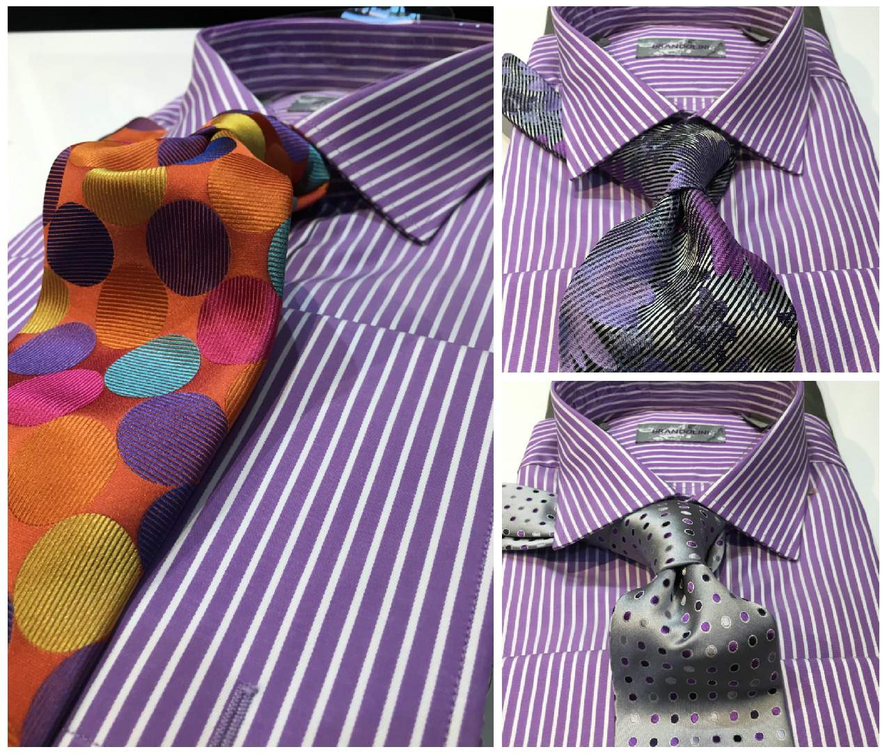 How to mix patterns on shirt and tie