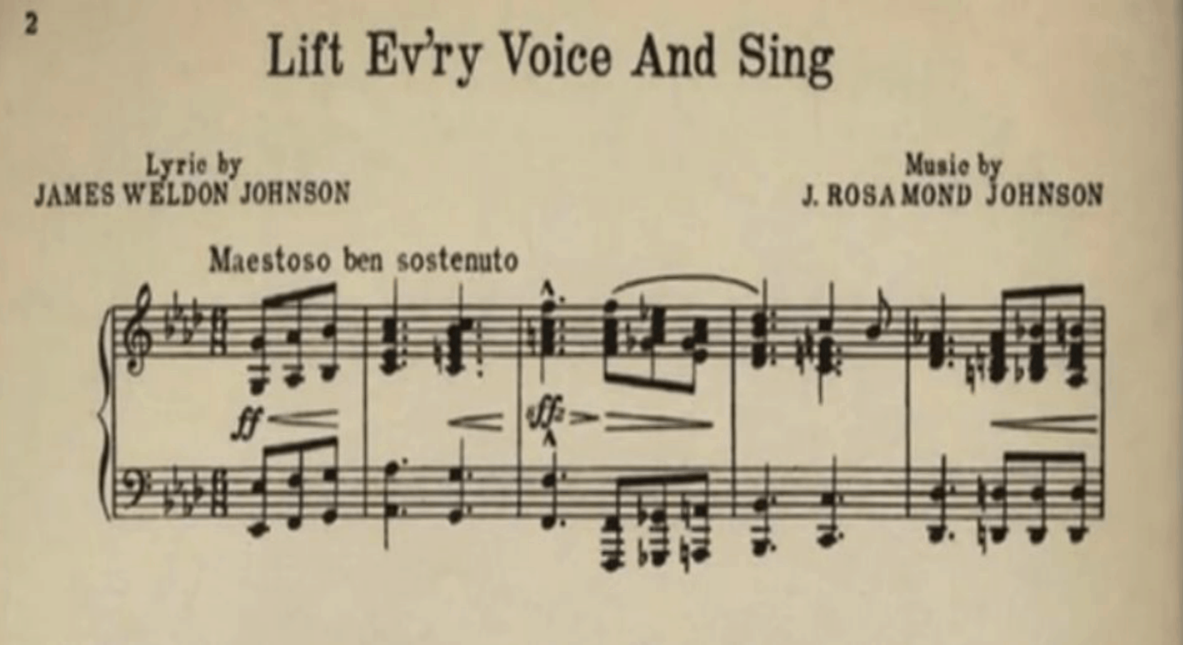 Lift Every Voice James Weldon Johnson