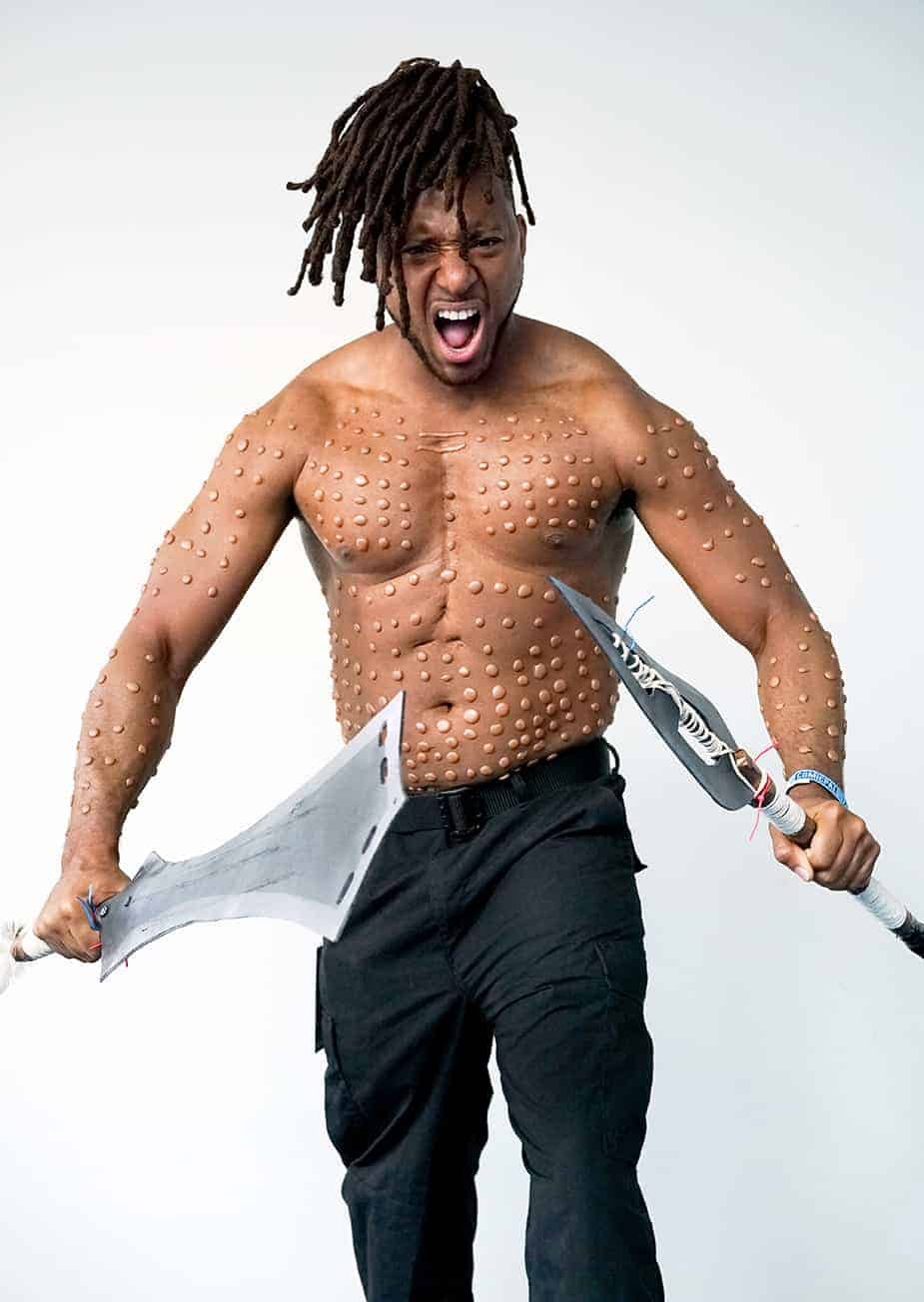african american cosplayer killmonger black panther