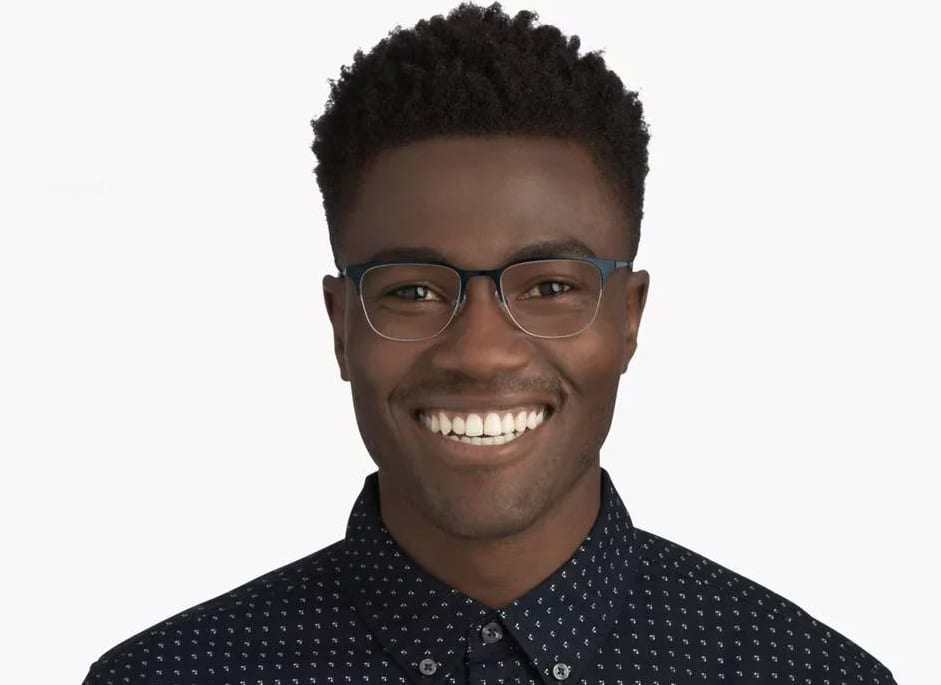 Black man wearing glasses