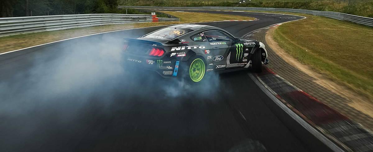 Vaughn Gittin Jr. Drifts Nürburgring Racetrack in 900HP Ford Mustang RTR
