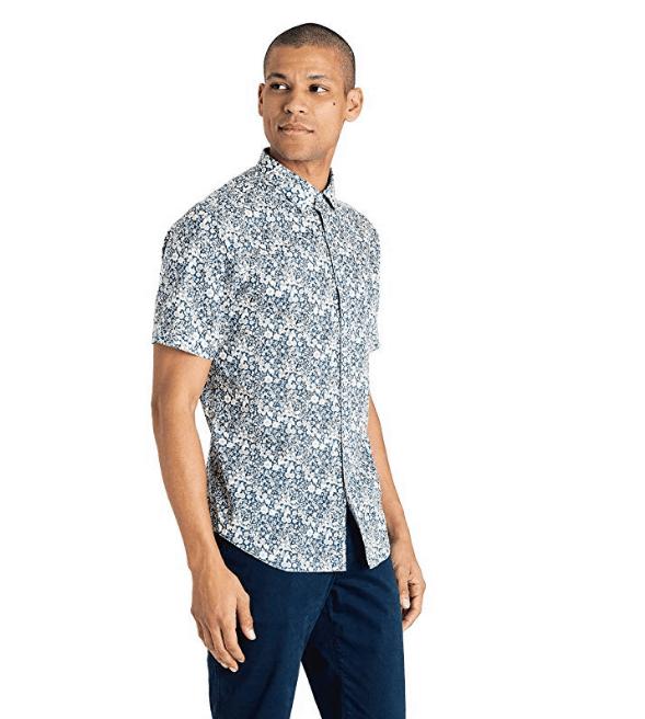 Good Man Brand Men's Meadow Liberty Floral Point Collar Shirt