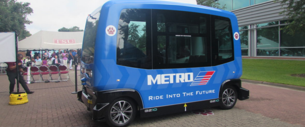 Texas Southern University in Houston Texas gets autonomous shuttle from metro