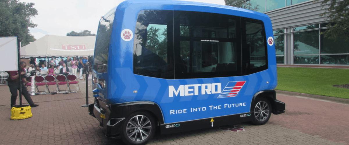Texas Southern University in Houston Texas gets autonomous shuttle from metro