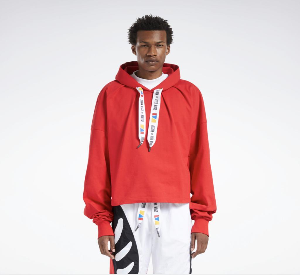 reebok by pyer moss hooded sweatshirt