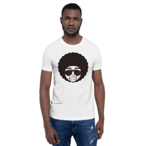man with afro