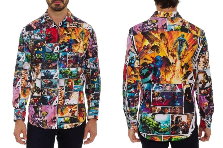 robert graham marvel avengers shirt