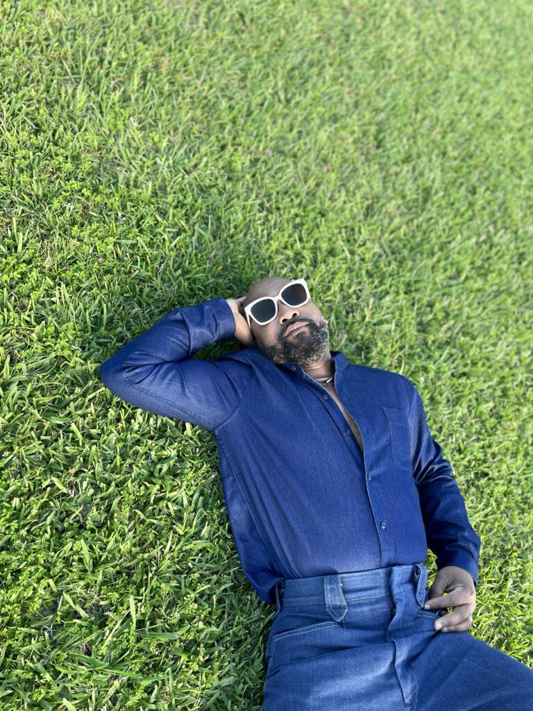 black man relaxing